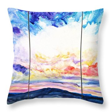Sky Sonata Throw Pillow by Joan Hartenstein