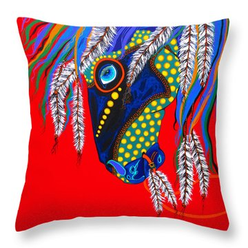 Throw Pillow featuring the painting Sky Spirit by Debbie Chamberlin