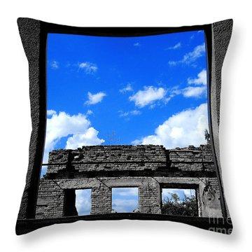 Sky Windows Throw Pillow by Nina Ficur Feenan