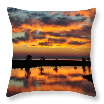 Sky Writing Throw Pillow