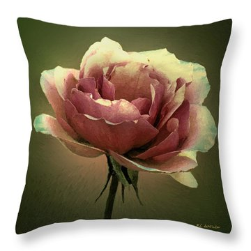Skyblue Pink Throw Pillow by RC deWinter
