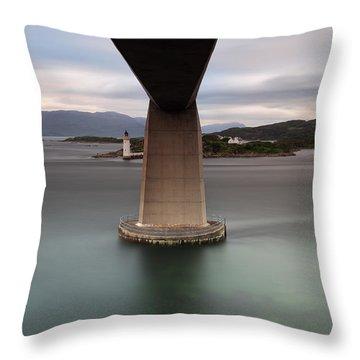Skye Bridge At Sunset Throw Pillow