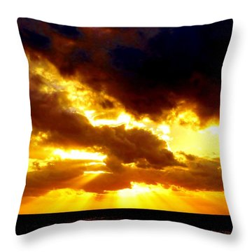 Throw Pillow featuring the photograph Skygold by Amar Sheow