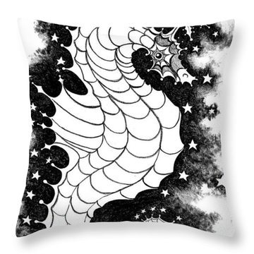 Throw Pillow featuring the digital art Skyhorse by Carol Jacobs