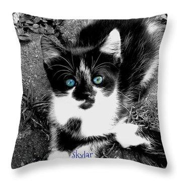 Skylar Aka Dottie Throw Pillow by Cynthia Lassiter