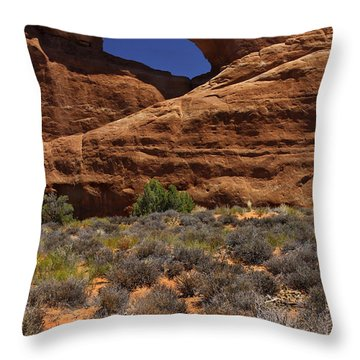 Skyline Arch - Arches National Park Throw Pillow by Mike McGlothlen
