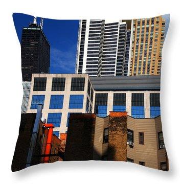 Skyline Building Blocks Throw Pillow