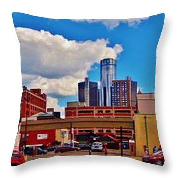 Skyline From The Inside... Detroit Throw Pillow