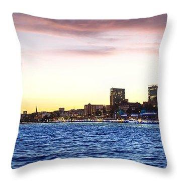 Skyline Hamburg Throw Pillow
