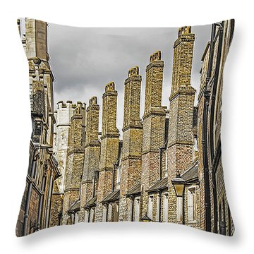 Skyline Of Cambridge Throw Pillow