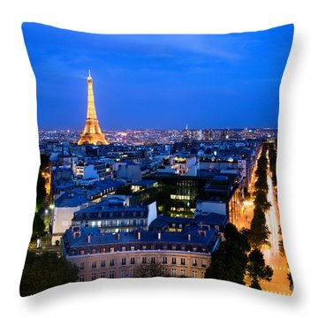 Skyline Of Paris Throw Pillow