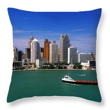 Skylines At The Waterfront, River Throw Pillow