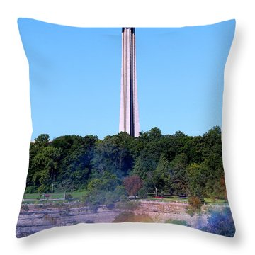 Skylon Tower Niagara Falls Throw Pillow