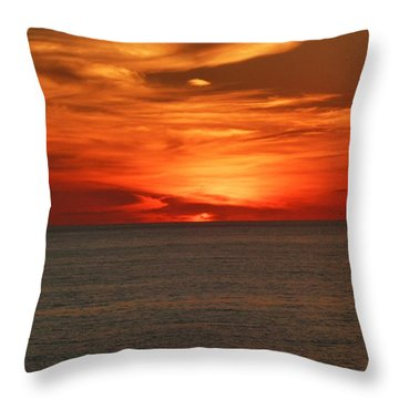 Throw Pillow featuring the photograph Sky's Are Orange by Kelly Mills