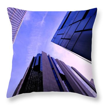 Skyscraper Angles Throw Pillow