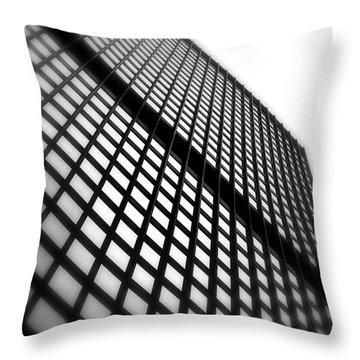 Skyscraper Facade Throw Pillow by Valentino Visentini