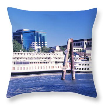 Skyscrapers At The Waterfront, Delta Throw Pillow