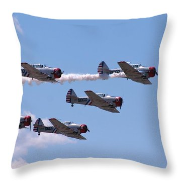 Skytypers Throw Pillow