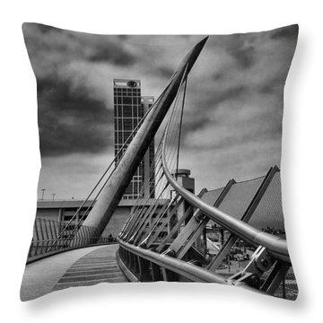 Skywalk Throw Pillow by Hugh Smith
