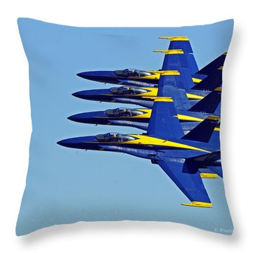 Skywalkers - United States Navy Blue Angels Throw Pillow