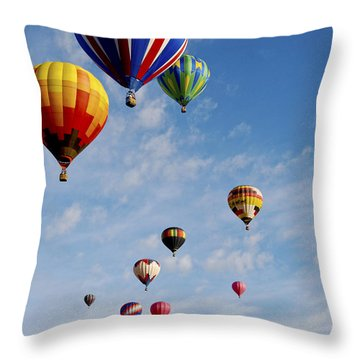 Throw Pillow featuring the photograph Skyward Bound by Gina Savage