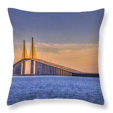 Skyway Bridge Throw Pillow by Marvin Spates
