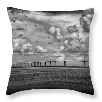 Skyway Clouds Throw Pillow