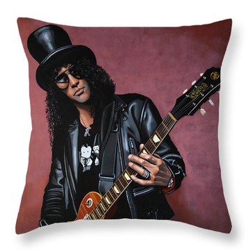 Slash Throw Pillow by Paul Meijering