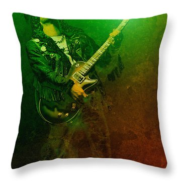 Slashed Throw Pillow by WB Johnston