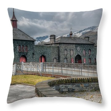 Slate Museum Throw Pillow by Adrian Evans