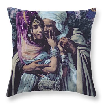 Slave To Love Throw Pillow by Alphonse Etienne Dinet