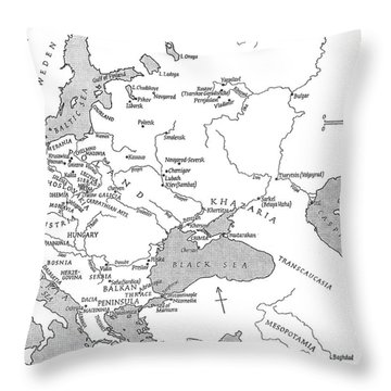 Slavic Population Map Throw Pillow