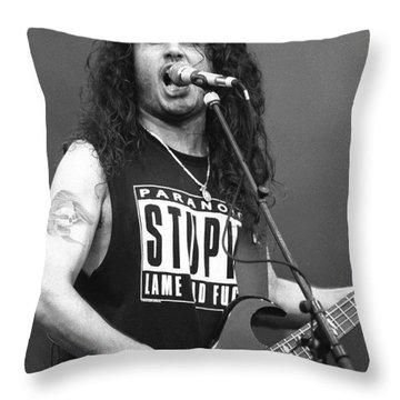 Slayer Tom Araya  Throw Pillow