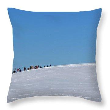 Dexter Drumlin Hill Sledding Throw Pillow