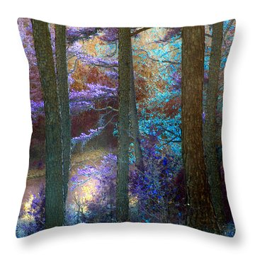 Sleep Walking Throw Pillow by Nina Fosdick