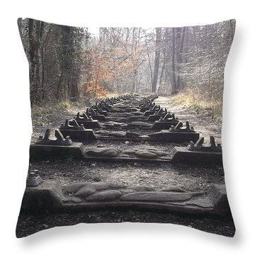 Sleepers In The Woods Throw Pillow by John Williams