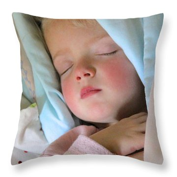 Sleeping Angel Throw Pillow