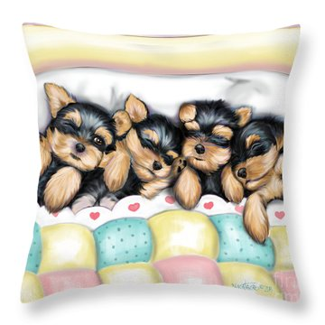 Sleeping Babies Throw Pillow