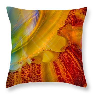 Sleeping Baby Throw Pillow by Omaste Witkowski