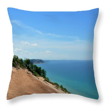 Sleeping Bear Dunes Throw Pillow by Diane Lent