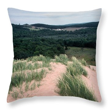 Sleeping Bear Dunes Throw Pillow by Randy Pollard