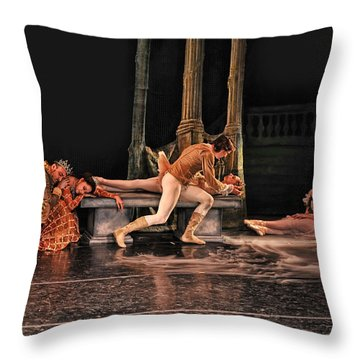 Sleeping Beauty Throw Pillow by Bill Howard