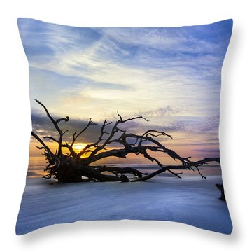 Sleeping Giant Throw Pillow by Debra and Dave Vanderlaan