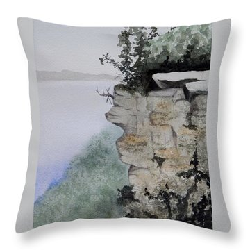 Sleeping Giant Overlook Throw Pillow