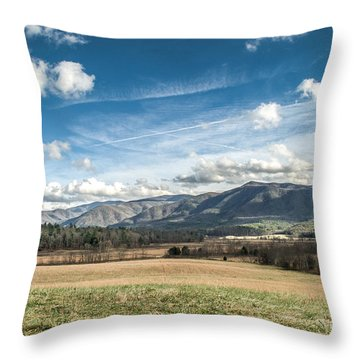 Throw Pillow featuring the photograph Sleeping Giants In Cades Cove by Debbie Green