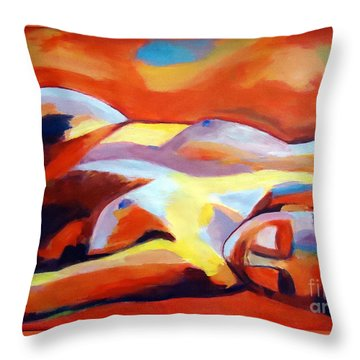 Throw Pillow featuring the painting Sleeping Lady by Helena Wierzbicki