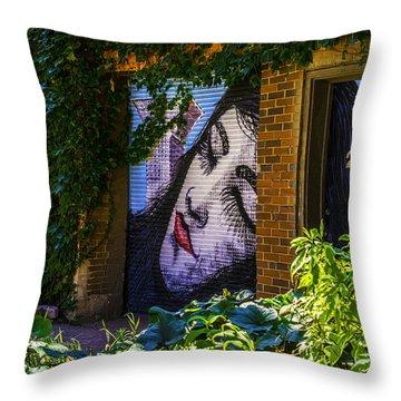 Sleeping Lady No Watermark Throw Pillow