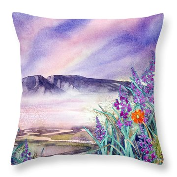 Sleeping Lady Sunset Throw Pillow