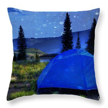 Sleeping Under The Stars Throw Pillow