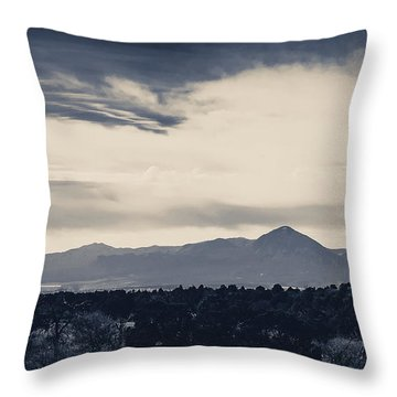 Sleeping Ute Mountain Throw Pillow by Janice Rae Pariza